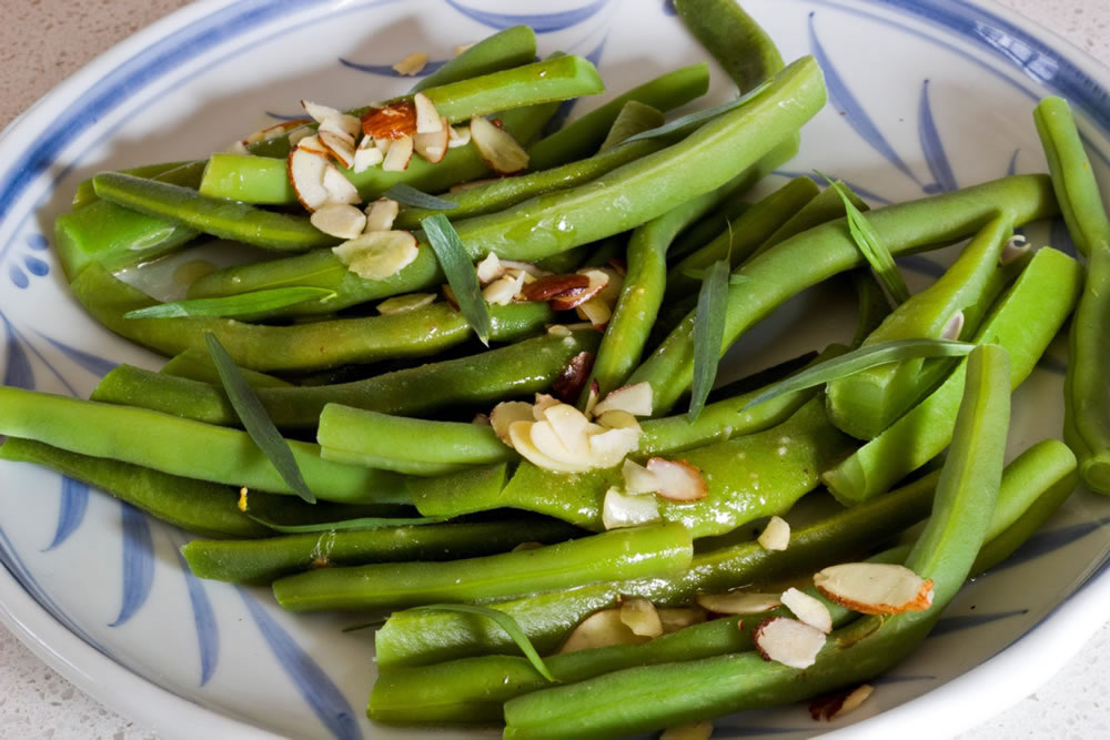 Bean Dish With Slivered Almonds Recipe Is Made By Julia
