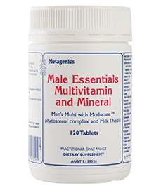 Male Essentials Multivitamin And Mineral 120 Tablets From Metagenics