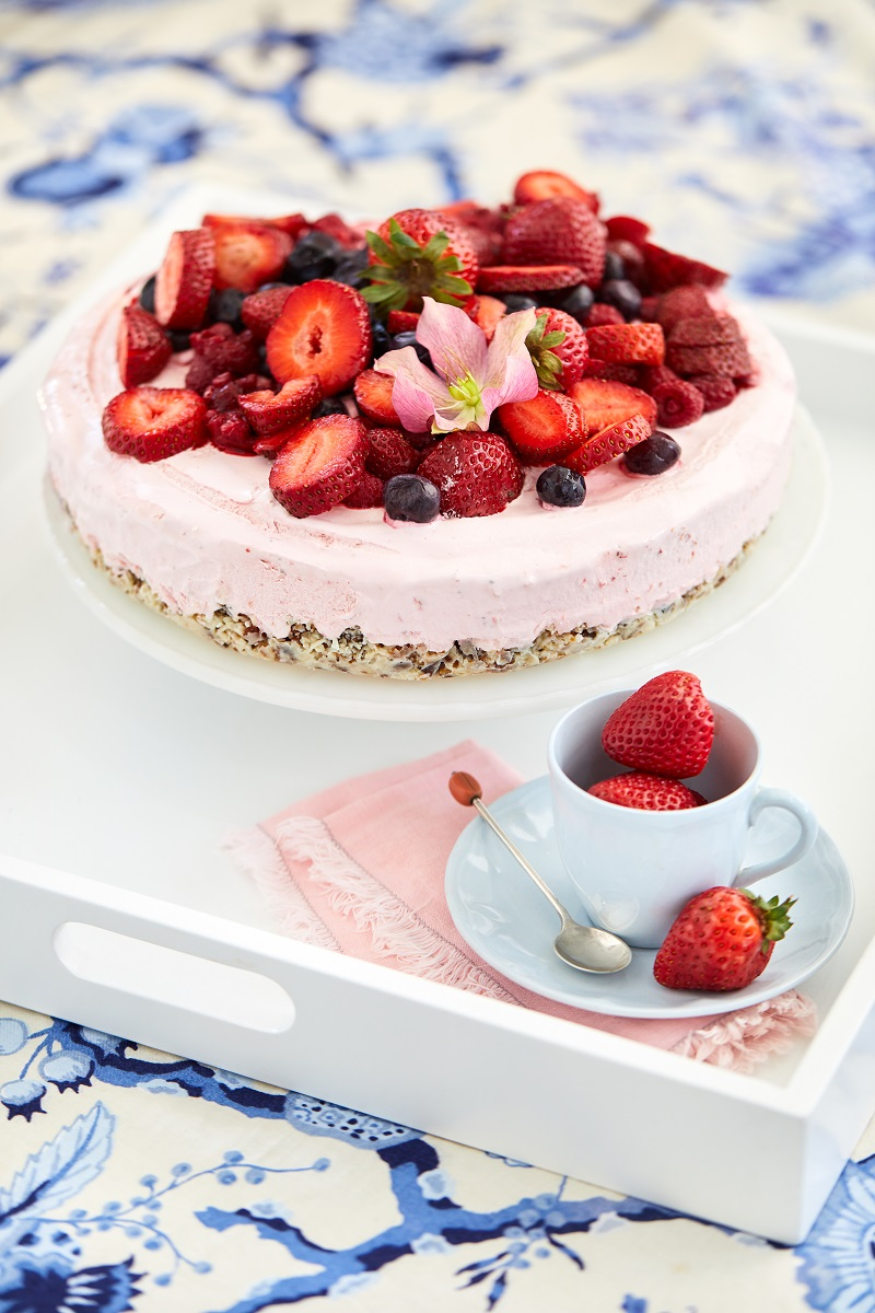 Refined Sugar Free Strawberry Cheesecake