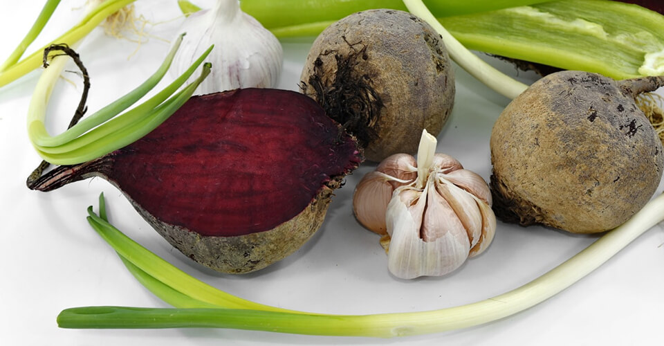 Beetroot and Leek Soup